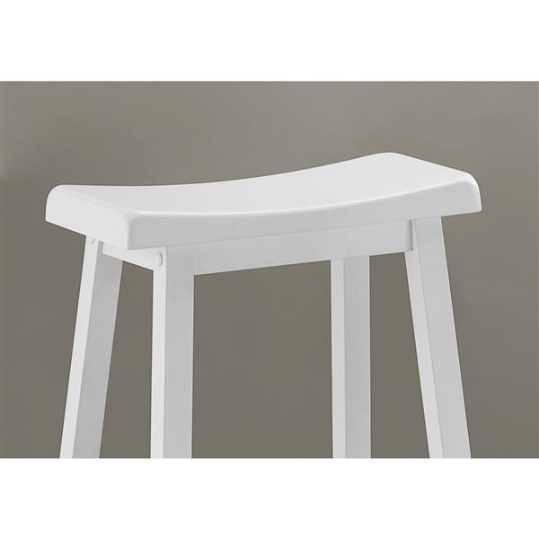Monarch  29-in White Bar Stools (Set of 2)