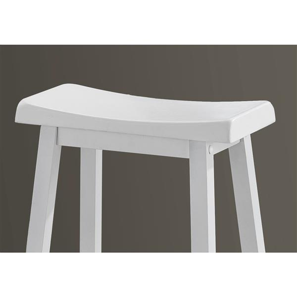 Monarch 24-in White Barstools (Set of 2)