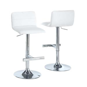 Monarch 25-in White Barstools (Set of 2)