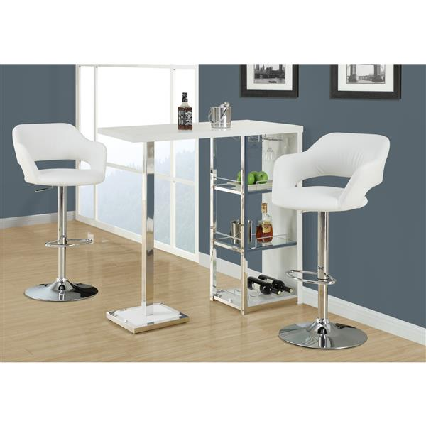 Monarch 24.25-in Faux Leather Barstool