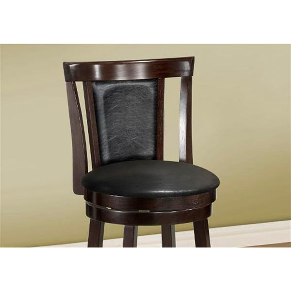 Monarch  25.5-in Brown Bar Stools (Set of 2)