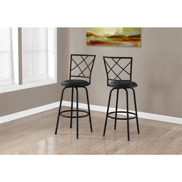 Monarch  28.25-in Faux Leather Bar Stools (Set of 2)