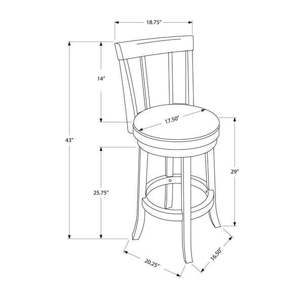 Monarch  29-in Cappuccino Bar Stools (Set of 2)