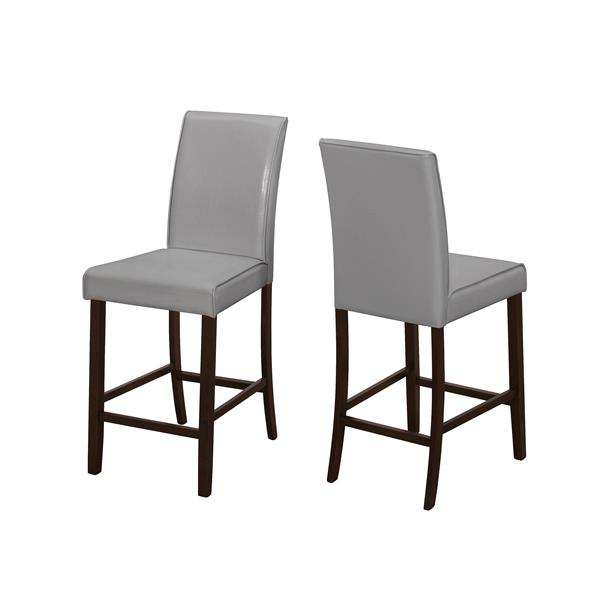 Monarch  24.5-in Faux Leather Dining Chairs (Set of 2)