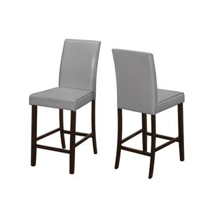 Monarch Specialties 24.5-in Faux Leather Dining Chairs (Set of 2)