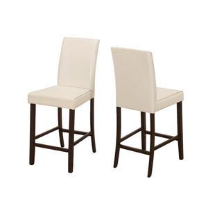 """Chaises de cuisine Monarch, 24,5"""", ivoire, ens. de 2"""