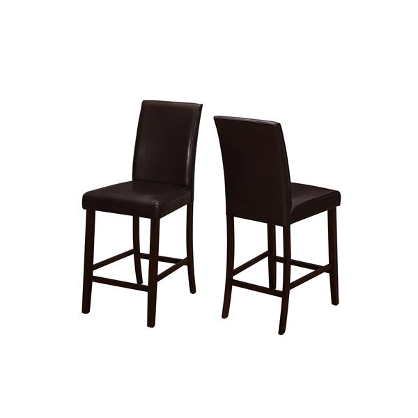 Monarch  24.5-in Brown Dining Chairs (Set of 2)