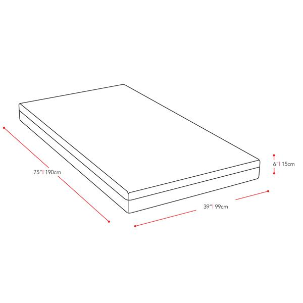 CorLiving Memory Foam Mattress 6-in Single/Twin