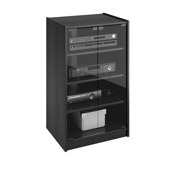 CorLiving Ravenwood 21-in Black Component Stand