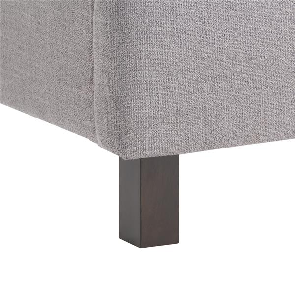 CorLiving Grey 65-in X 82-in Fabric Upholstered Bed
