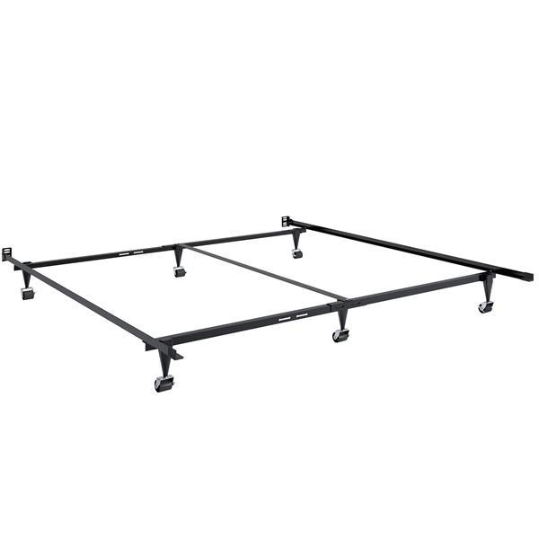 CorLiving Black Queen or King Adjustable Metal Bed Frame