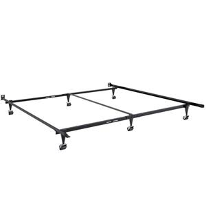 CorLiving Black Queen or King Adjustable Metal Bed Frame