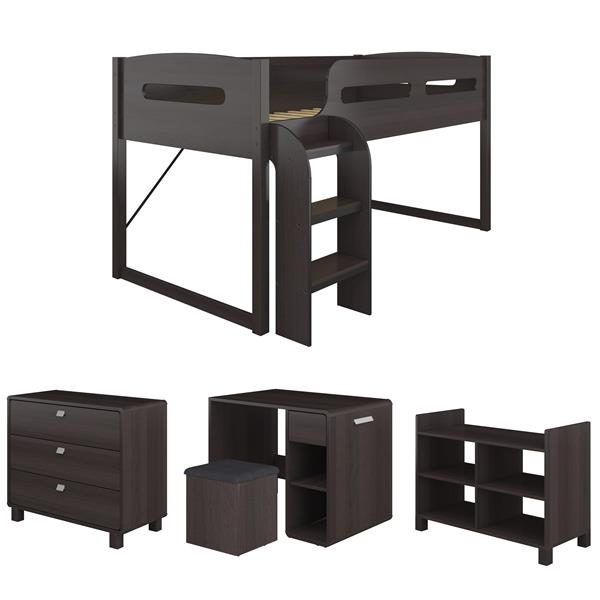 CorLiving Madison Collection Brown 80-in X 50-in Loft Bed
