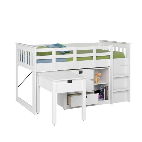 CorLiving Madison Collection White 44-in X 80-in Loft Bed