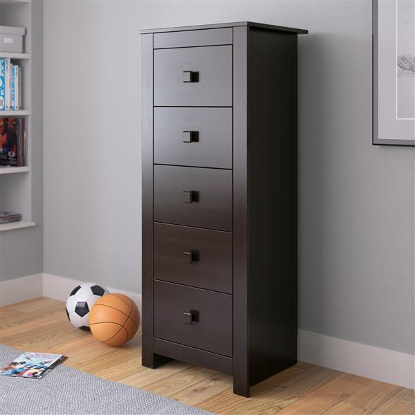CorLiving Madison Rich Espresso Tall Boy Chest of Drawers