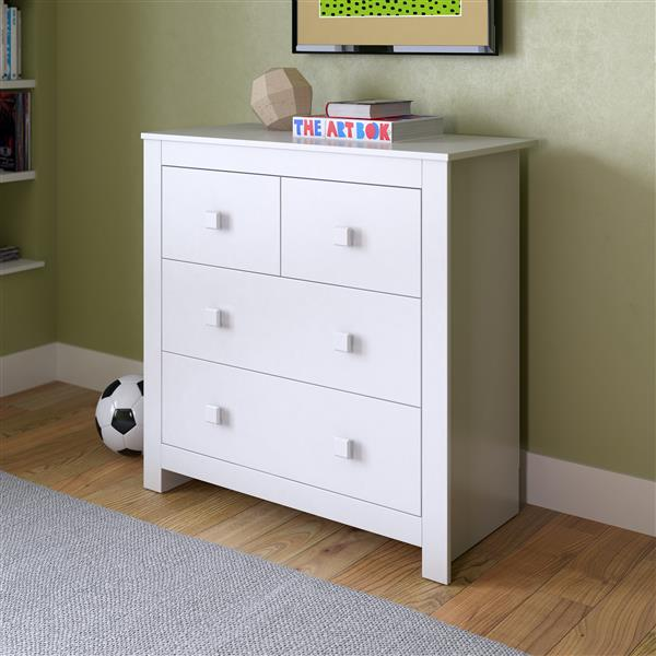 Commode Madison, blanc d'hiver