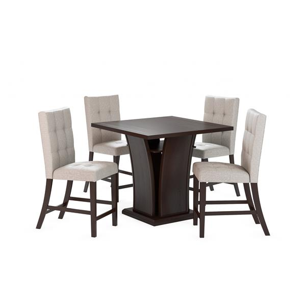 CorLiving 36-in Brown and Cappuccino Counter Height Dining Set