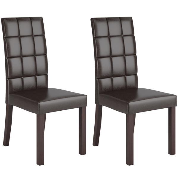 Ensemble de salle à manger, chaises similicuir, 5 mcx