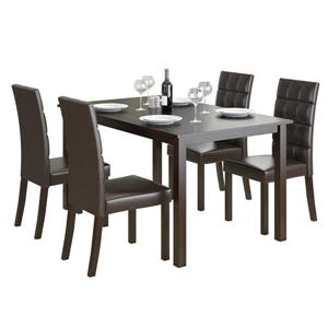 CorLiving Cappuccino and Brown 5 piece Leatherette Dining Set