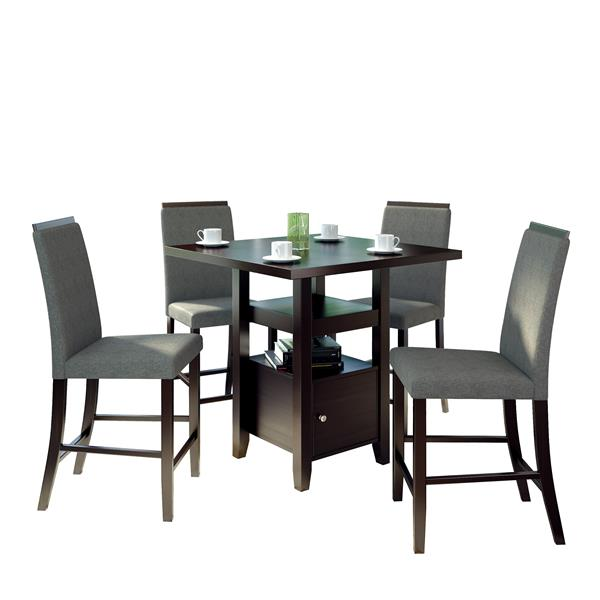 CorLiving 36-in Pewter Grey 5 Piece Counter Height Dining Set