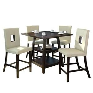 Corliving 36-in Leatherette 5 Piece Counter Height Dining Set