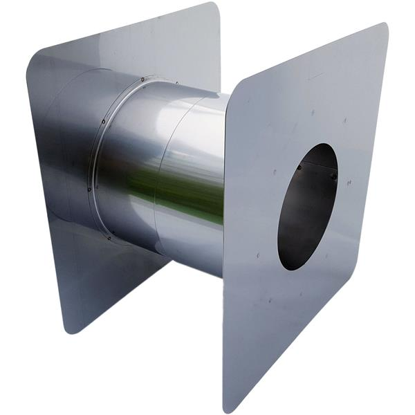 Z-Flex Z-Vent 4-in Stainless Steel Adjustable Wall Thimble