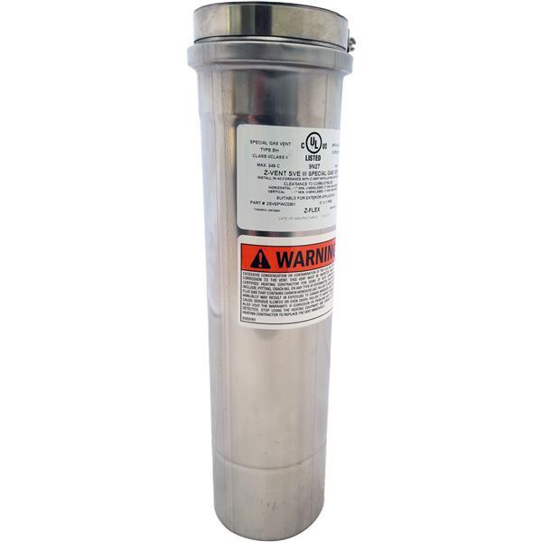 Z-Flex Z-Vent 4-in x 48-in Stainless Steel Single Wall Pipe