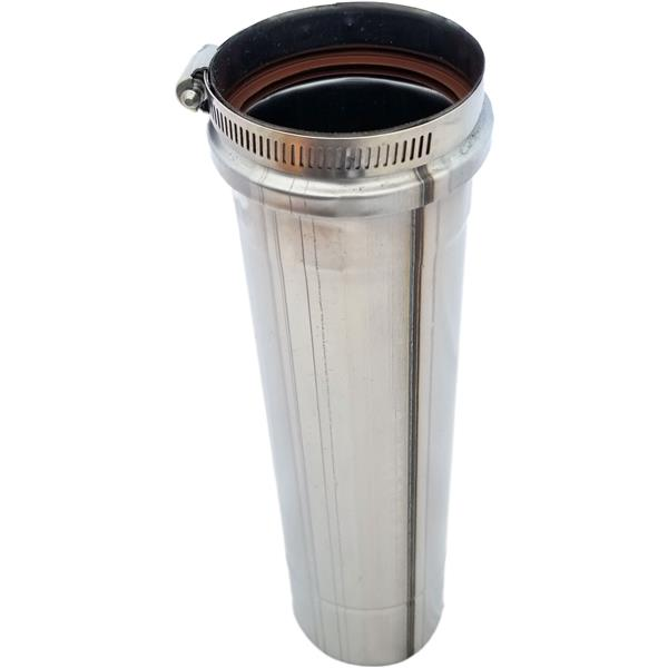 Z-Flex Z-Vent 4-in x 24-in Stainless Steel Single Wall Pipe