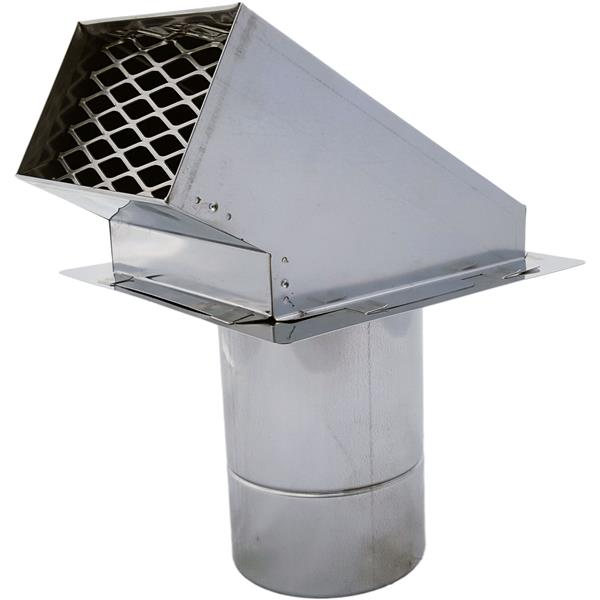 Z-Flex Z-Vent 4-in Stainless Steel Termination Hood