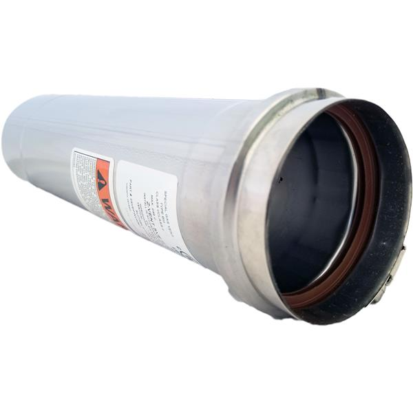 Z-Flex Z-Vent 3-in x 12-in Stainless Steel Single Wall Pipe