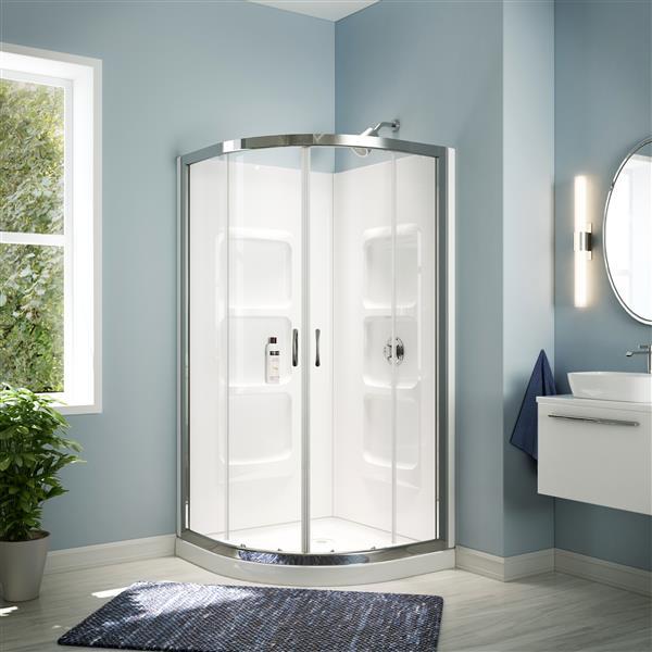 A Amp E Bath Amp Shower White Round Shower Kit Mona Rona