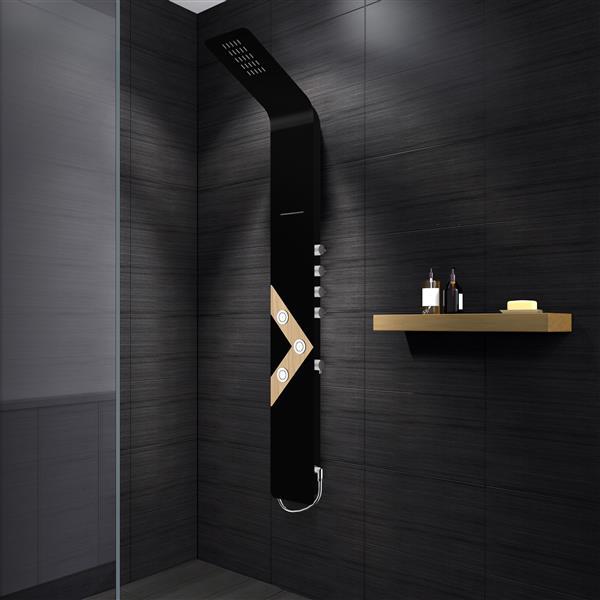 A&E Bath & Shower Vista VIII Black Bath and Shower Panel - Black