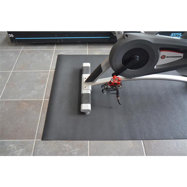 Technoflex 48-in x 72-in Black All Purpose Rubber Mat