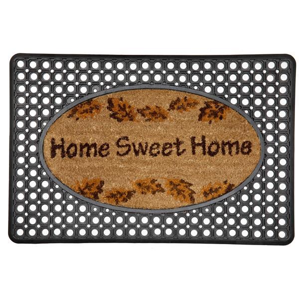 "Paillasson ""Home Sweet Home"", caoutchouc/coco, 20' 'x 30''"