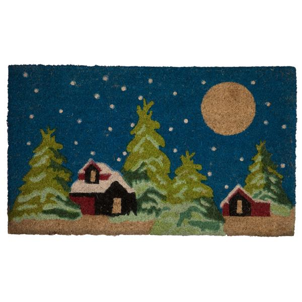 Technoflex 18-in x 30-in Winter Wonderland Printed Coco Door Mat