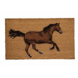 Technoflex 18-in x 30-in Galloping Horse Printed Coco Door Mat