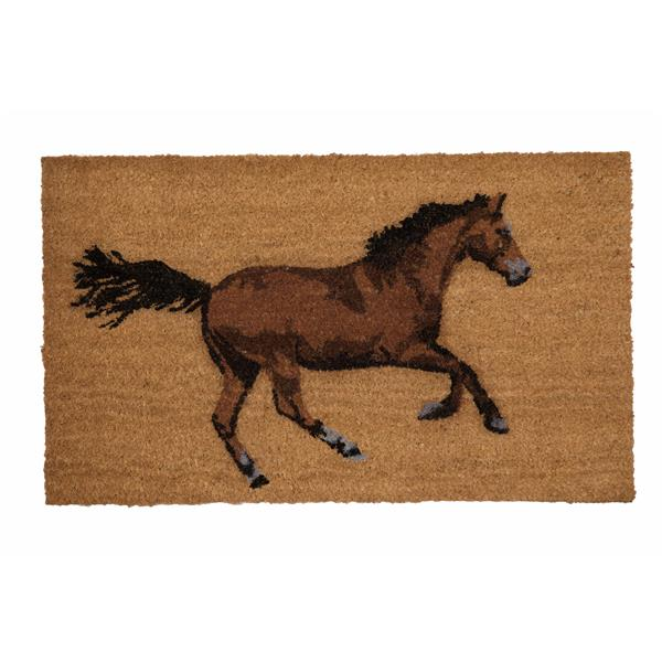 """Paillasson en fibre de coco """"Galloping Horse"""", 18'' x 30''"""