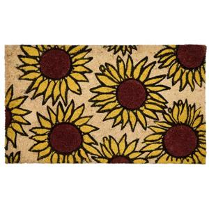 Technoflex 18-in x 30-in Sun Flowers Printed Coco Door Mat