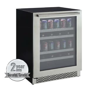 Marathon Black 198-Can Single Door Beverage Cooler