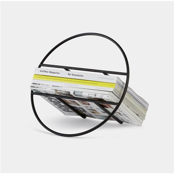 Umbra Hoop Black Magazine Rack