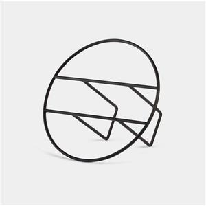 Porte-revue circulaire, noir