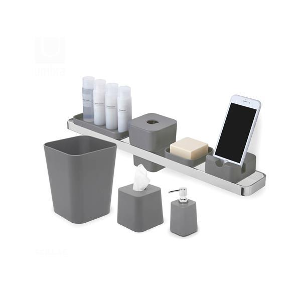 Umbra Charcoal Bathroom Waste Basket