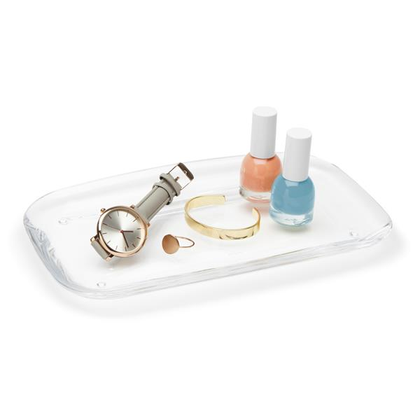 Umbra Droplet Clear Plastic Tray