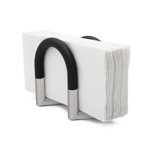 Porte-serviettes Swivel, chriome/noir