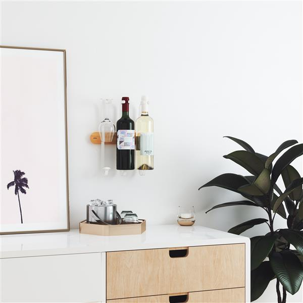 Showvino Wine Rack - White/Natural