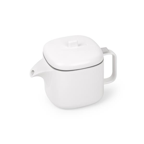 Umbra Cutea White and Nickel Teapot with Infuser
