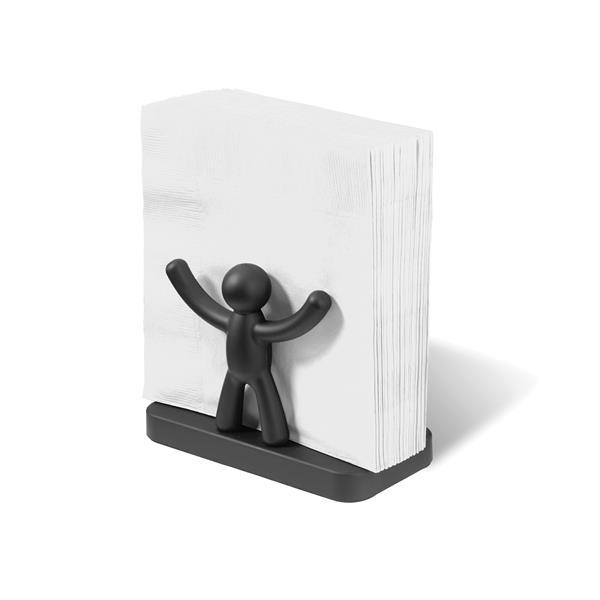 Umbra Buddy 3.5-in x 3.5-in Black Napkin Holder