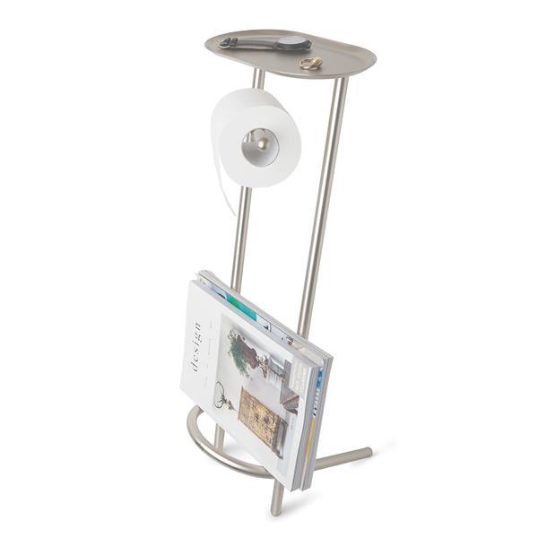 Porte-papier hygiénique Valetto, nickel