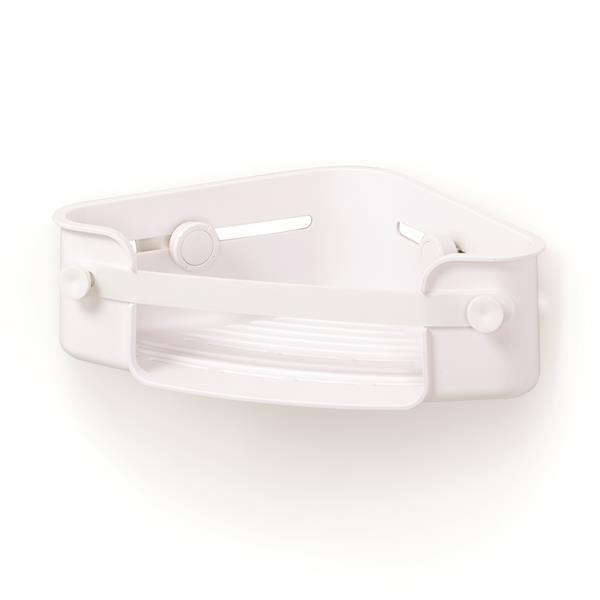 Umbra Flex 7.5-in White Corner Shower Bin
