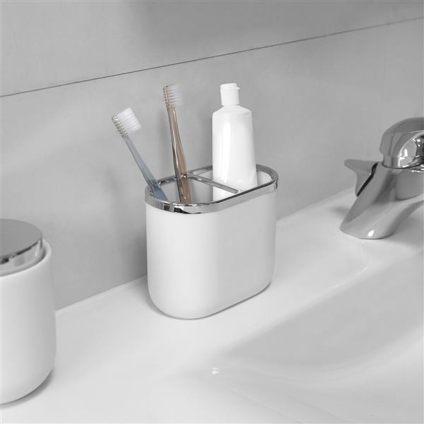 Umbra Junip White/Chrome Toothbrush Holder